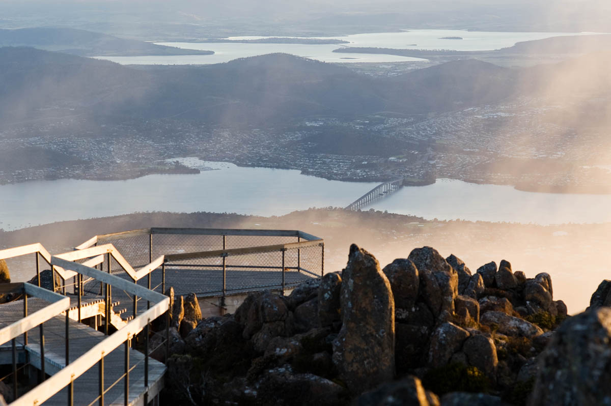 Hobart from Mt Wellington, Tasmania